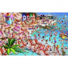 Puzzle 1000 pièces François Ruyer : La plage