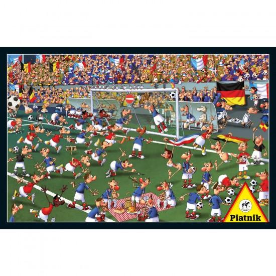 Puzzle 1000 pièces François Ruyer : Le terrain de football - Piatnik-5373
