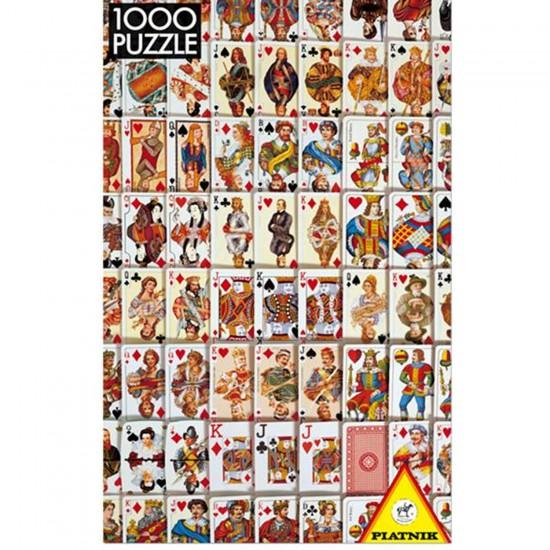 Puzzle 1000 pièces - Jeu de cartes - Piatnik-5437