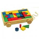 Chariot de cubes en bois Grand modèle