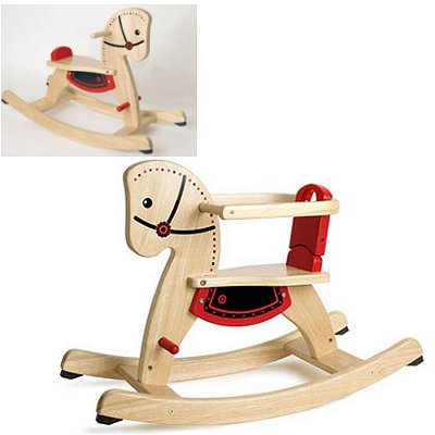 cheval bascule en bois avec arceau pintoy magasin de jouets pour enfants. Black Bedroom Furniture Sets. Home Design Ideas