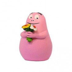 Figurine Barbapapa avec des fleurs