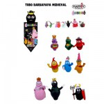 Figurines Barbapapa: Tubo de 9 figurinesmédiévales