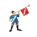 Figurine Chevalier : Héraut d'arme à la trompette : Sonneur de tournois
