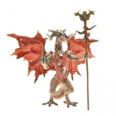 Figurine Dragon sorcier rouge
