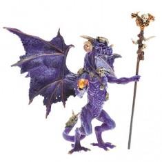 Figurine Dragon sorcier violet