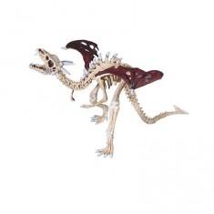 Figurine Dragon squelette rouge