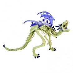 Figurine Dragon squelette violet