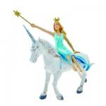 Figurine Fée bleue sur la licorne