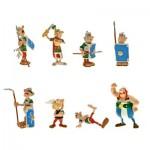 Figurines Astérix bagarre : Tube de 8 figurines