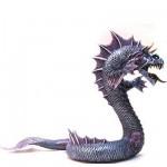 Figurine Grand dragon des mers : Bleu argenté