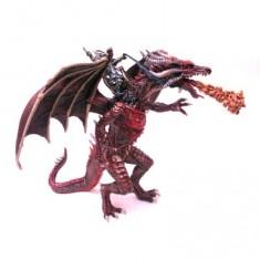 Figurine Grand dragon volant et cavalier