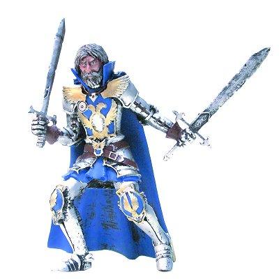 Figurine Chevalier Bleu sur chevalet - Plastoy-62564