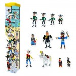 Figurines Lucky Luke : Tubo de 11 figurines