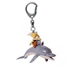 Porte-clés Astérix et Obélix : Astérix sur un dauphin