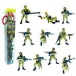 Figurine Soldats: Tubo de 10 figurines: Commando 2 Opération désert