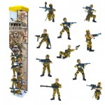 Figurine Soldats : Tubo de 10 figurines : Commando Opération jungle