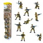 Figurine Soldats: Tubo de 10 figurines: Commando Opération jungle