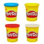 Pâte à modeler Play-Doh : 4 pots de couleurs : Bleu, rouge, blanc, jaune
