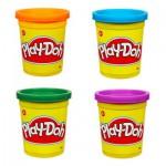 Pâte à modeler Play-Doh : 4 pots de couleurs : Violet, orange, vert, bleu