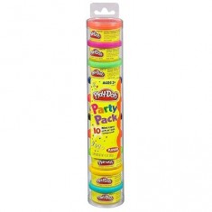 Pâte à modeler Play-Doh : Tube couleurs party