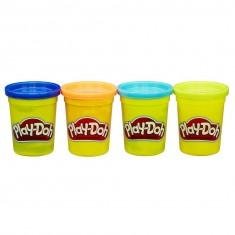 Pâte à modeler PlayDoh : Pots bleu foncé, orange, bleu, vert