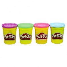 Pâte à modeler PlayDoh : Pots violet, vert, rose, bleu
