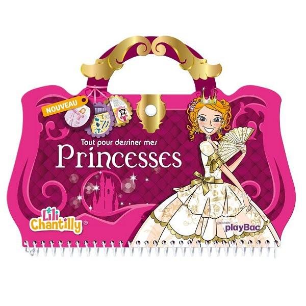 Carnet créatif Lili Chantilly : Tout pour dessiner mes princesses - PlayBac-124971347