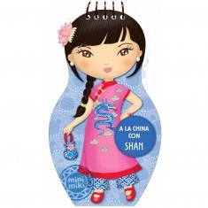 Carnet créatif Minimiki : Je dessine mes poupées chinoises avec Shan