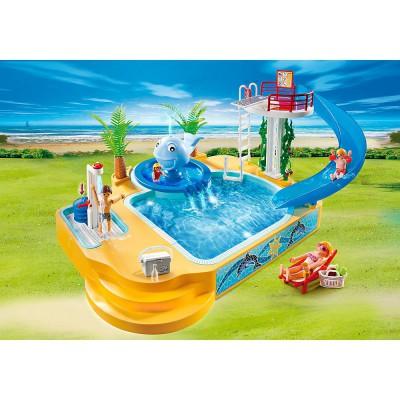 Playmobil 5433 summer fun famille avec piscine et for Piscine playmobil 5433