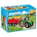 Playmobil 6130 : Country : Tracteur avec pelle et remorque