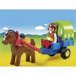 Playmobil 6779 - 1.2.3 - Chariot avec poney