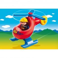 Playmobil 6789 - 1.2.3 - Pompier avec hélicoptère