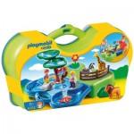 Playmobil 6792 - 1.2.3 - Zoo transportable avec bassins aquatiques