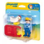 Playmobil 6793 - 1.2.3 - Fermier avec brouette