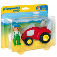 Playmobil 6794 - 1.2.3 - Agricultrice avec tracteur