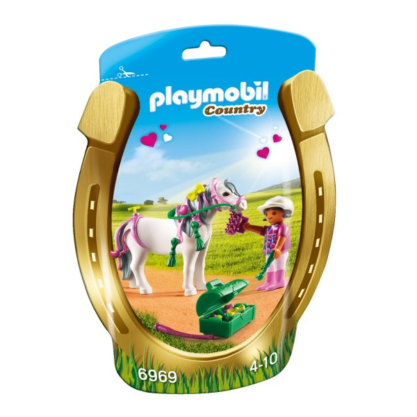 Playmobil 6969 Country : Poney à décorer Coeur - Playmobil-6969