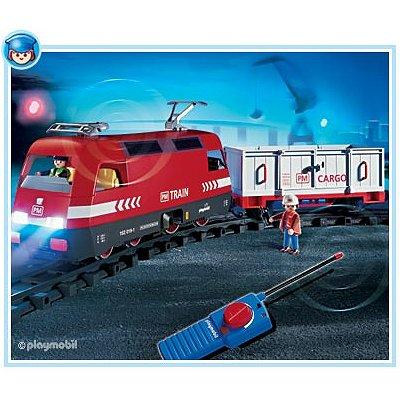 Article d'occasion - Playmobil 4010 - Train de marchandises RC avec phares - Occasion-Playmobil-4010
