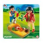 Playmobil 4348 : Enfants avec terrarium et cochons d'Inde
