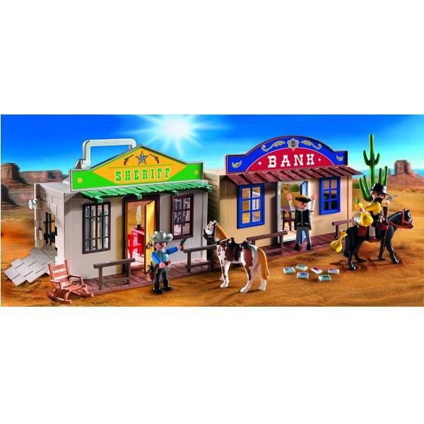 Playmobil 4398 : Coffret de Cow-boy transportable - Playmobil-4398
