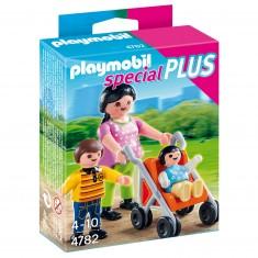 Playmobil 4782 : Maman avec enfants et poussette
