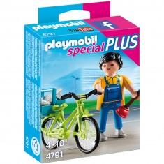 Playmobil 4791 : Spécial Plus : Bricoleur avec matériel et vélo