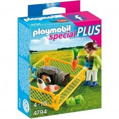 Playmobil 4794 : Spécial Plus : Enfant avec cochons d'inde
