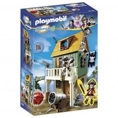 Playmobil 4796 : Super 4 : Fort des pirates camouflé avec Ruby