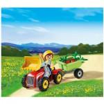 Playmobil 4943 : Oeuf surprise Enfant avec tracteur et remorque