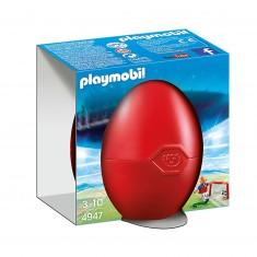 Playmobil 4947 : Oeuf Joueur de football avec cage