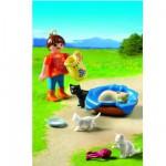 Playmobil 5126 : Famille de chats et enfant