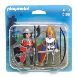 Playmobil 5166 :  Duo Chevalier du Lion avec Chevalier de l'Aigle