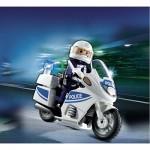 Playmobil 5185 : Motard de police avec lumière clignotante