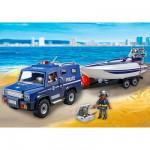 Playmobil 5187 : Fourgon et vedette de police
